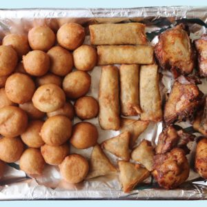 Small chops platter in Abuja
